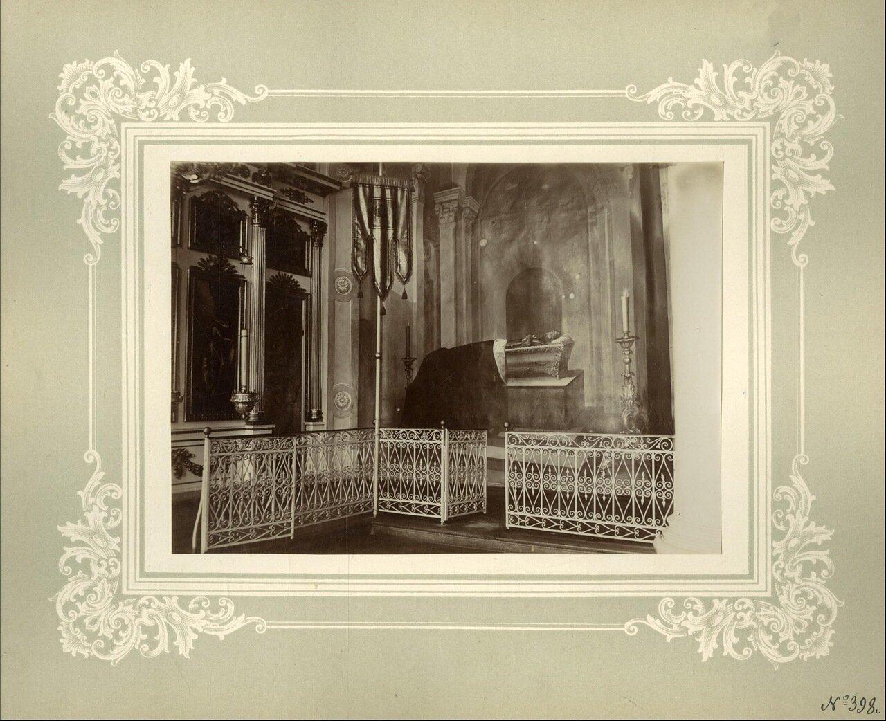 Изображение бл. вел. кн. Александра Невского (в схиме) на южной стене в Александро-Невской церкви