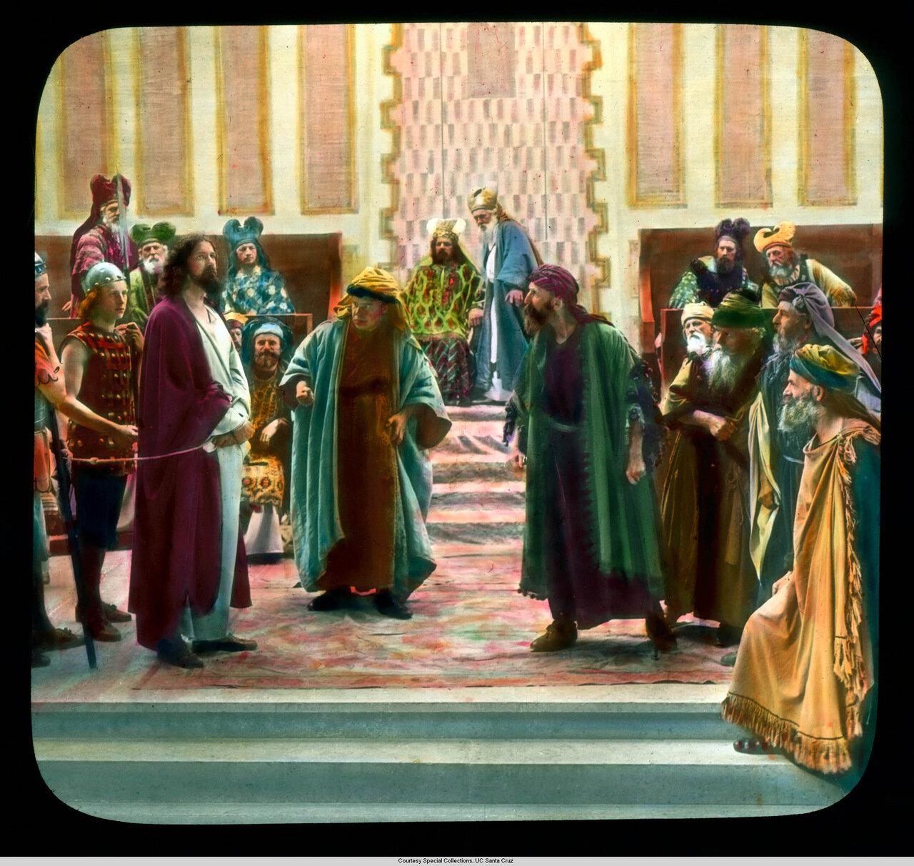 Обераммергау. Страсти Христовы. Христос осуждаем в Синедрионе