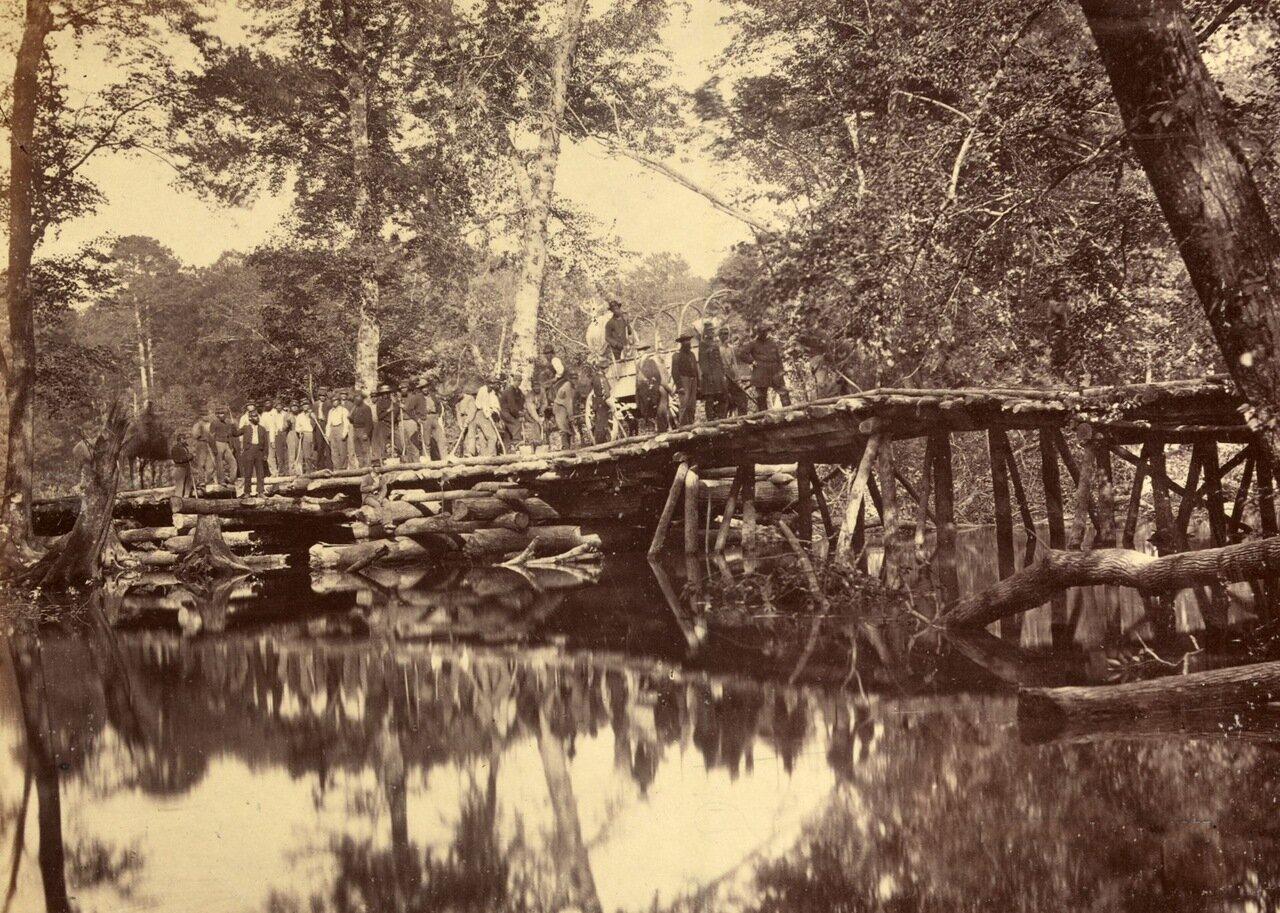 Военный мост через Чикаомини, Вирджиния. Май 1862 г.