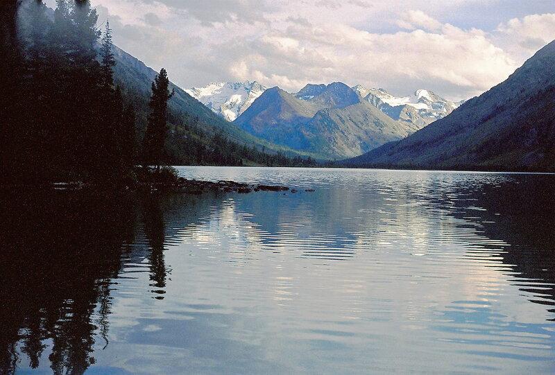 Алтай. Заливы Среднего Мультинского озера