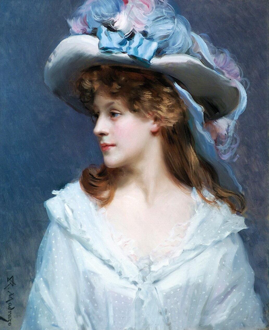 Raimundo de Madrazo y Garreta (1841-1920) - Woman in White