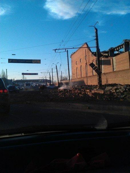 Последствия взрыва метеорита над Челябинском. Цинковый завод