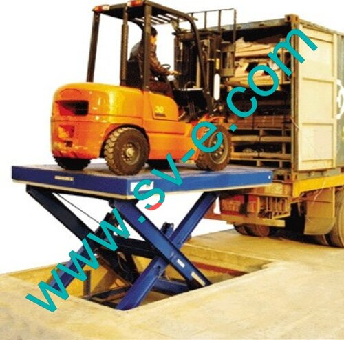Ножничный подъемник для погрузки-разгрузки грузовых автомобилей