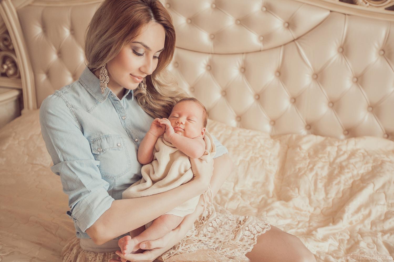 Блондинка с ребенком красивые фото