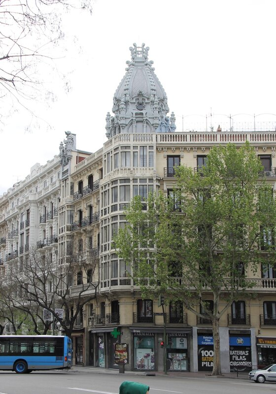 Мадрид. Проспект Алькала.  Alcalá Madrid