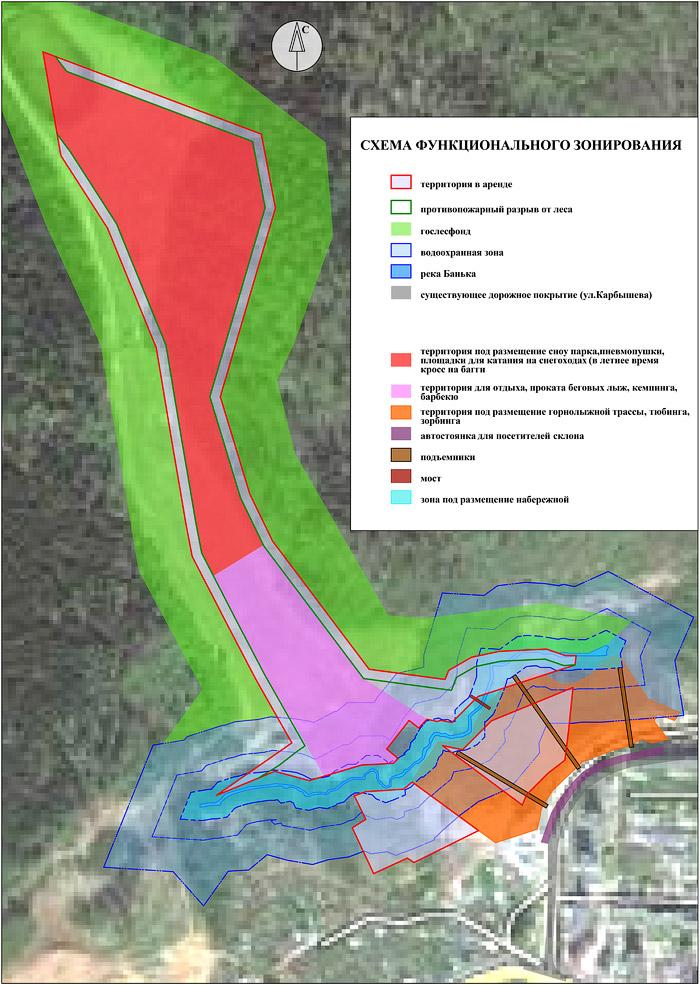 План схема зонирования территории