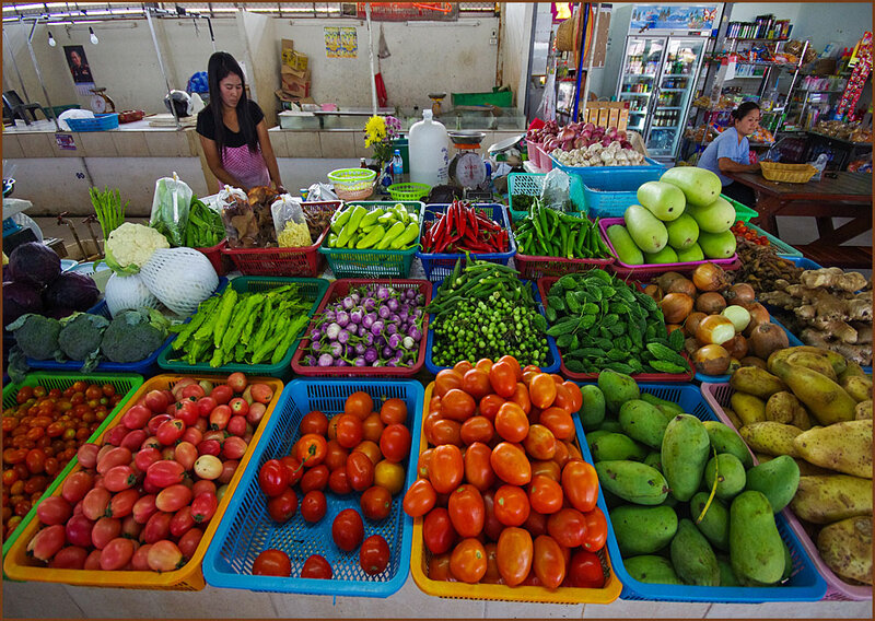 На овощном рынке
