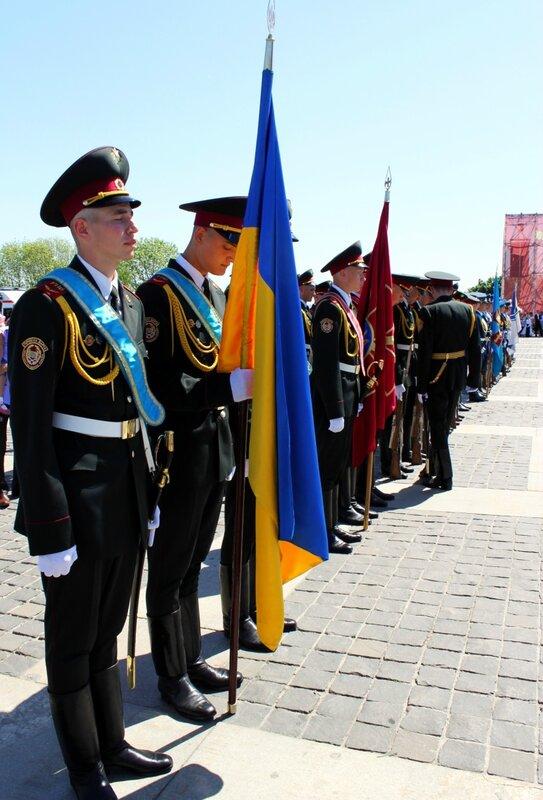 Построение перед парадом Дня Победы