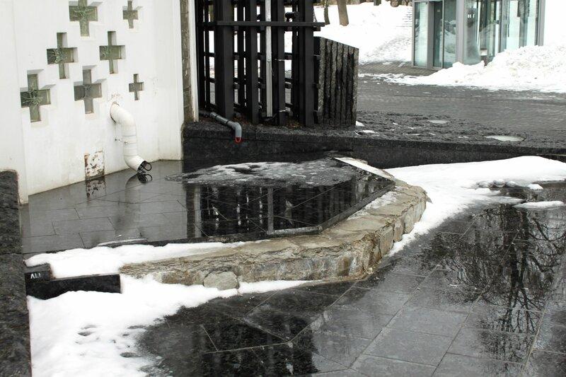 Отмокшие плиты облицовки