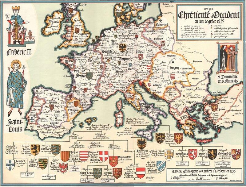 «Карта Христианства Запада в год благодати 1235»