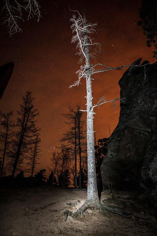 ночная фотосъемка и подсветка фона