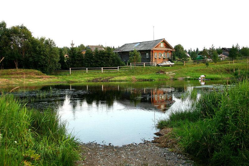 река Вожега деревня Надпорожье