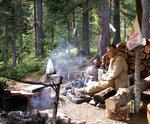 Лагерь на южном склоне перевла Дятлова