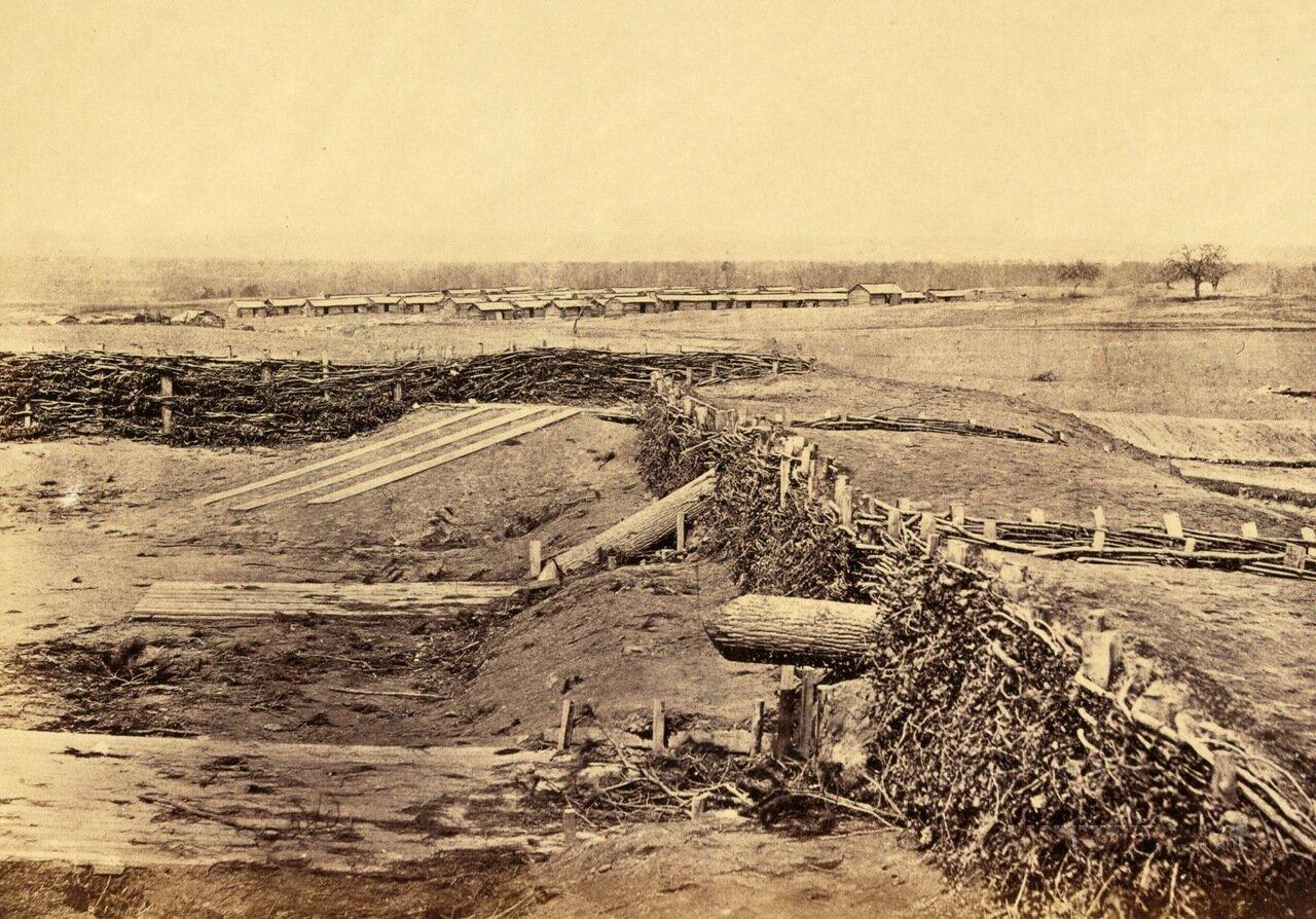 Бутафорские орудия. Сентервилль, Вирджиния. Март 1862 г.