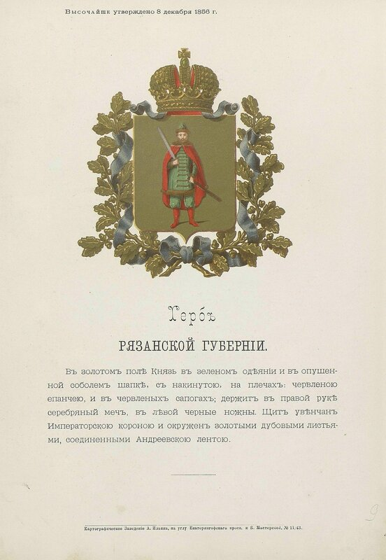 Рязанская губерния 1880 год