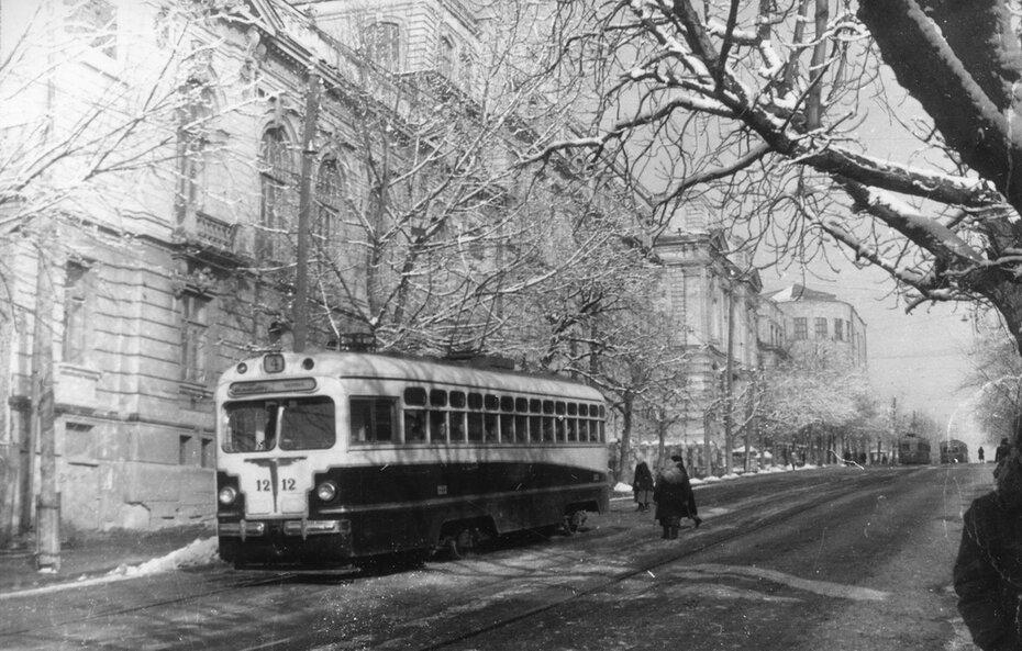 1950. Улица Воровского (сейчас Бульварно-Кудрявская улица)