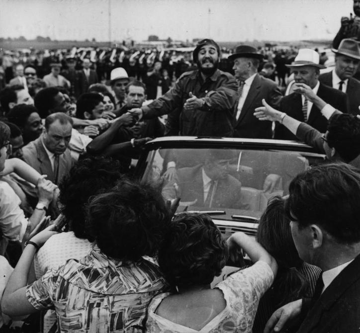 1963.05.20. Киевляне встречают премьер-министра Кубы Фиделя Кастро