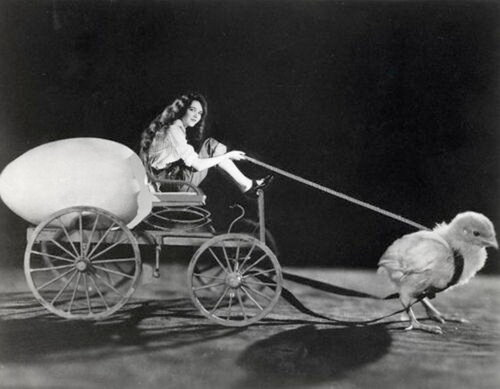 Mary Philbin on Chick-Drawn Cart