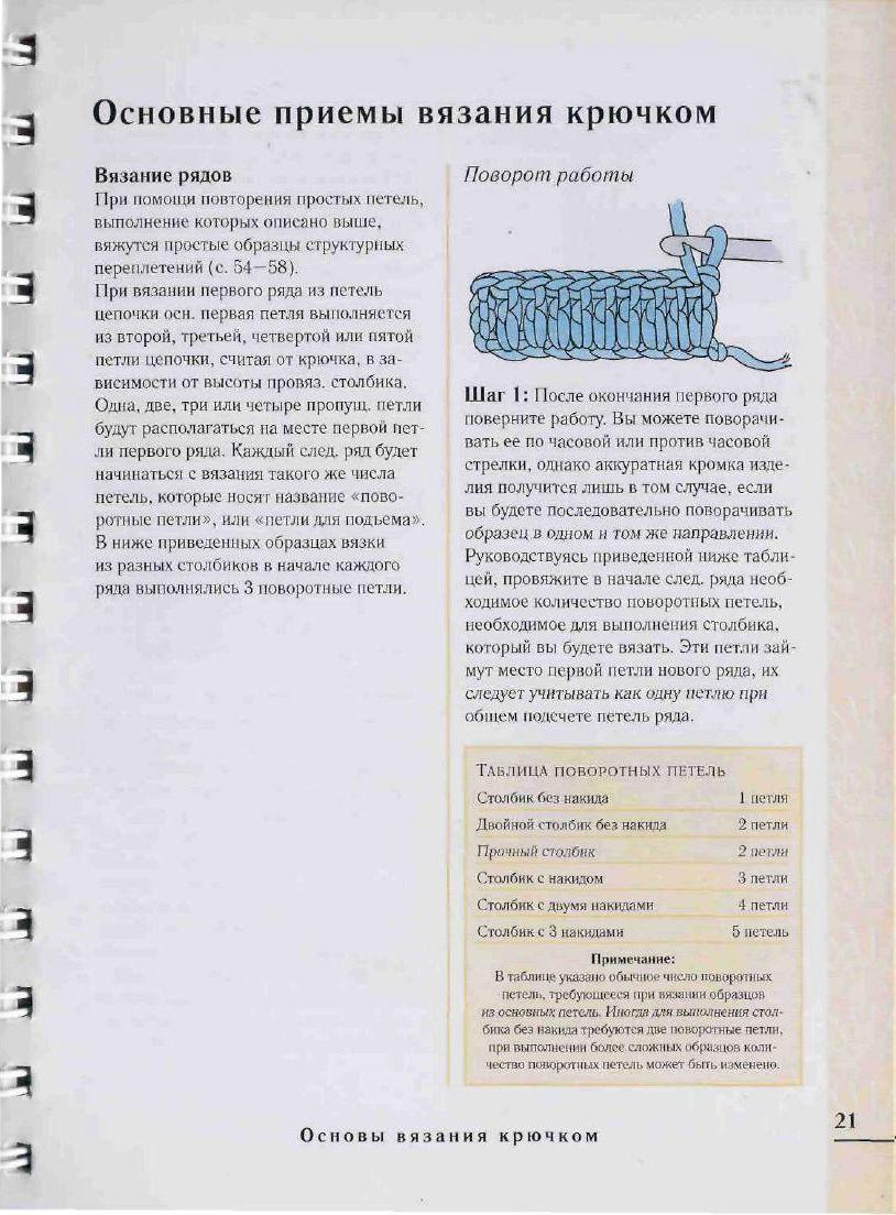 Образцы петель при вязании спицами