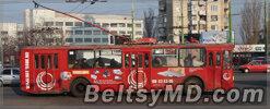 В Кишинёве у троллейбуса на ходу отвалилось колесо