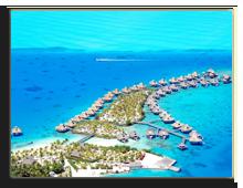Французская Полинезия. Resort at bora bora , aerial view. Фото wilar - shutterstock
