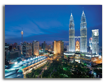Малайзия. Куала-Лумпур. Mandarin Oriental Kuala Lumpur. Exterior night
