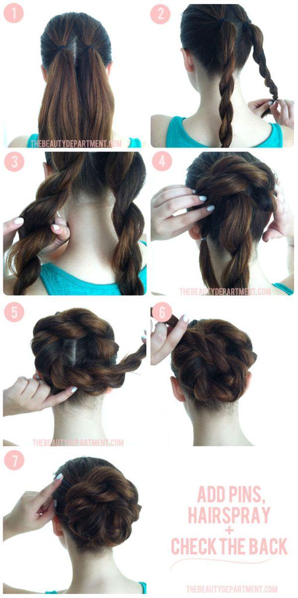 Как сделать прически из длинных волос фото