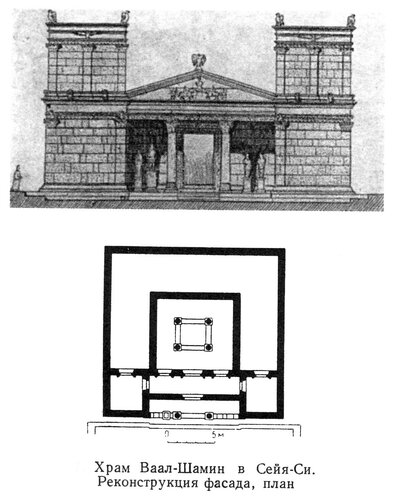 Храм Ваал-Шамин в Сей-Си, план