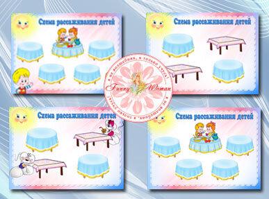 Схемы сервировки стола детского сада