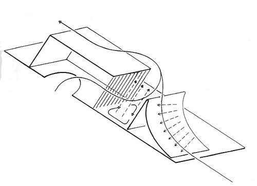 Вентиляционный элемент с ветроотражателем