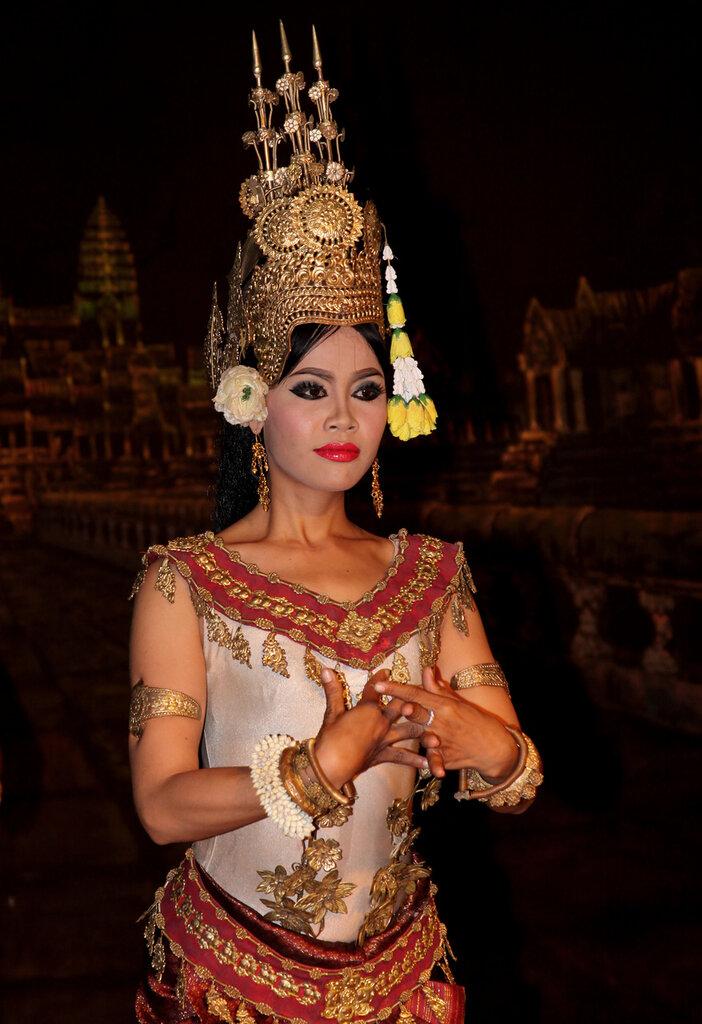 Танцовщицы Апсара. Камбоджа.