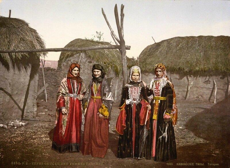 Russian types of Tartar, (i.e., Tatar), women of the Caucasus, Russia, 1890-1900.jpg