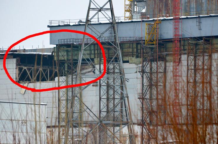 Обрушилась стена саркофага в Чернобыле