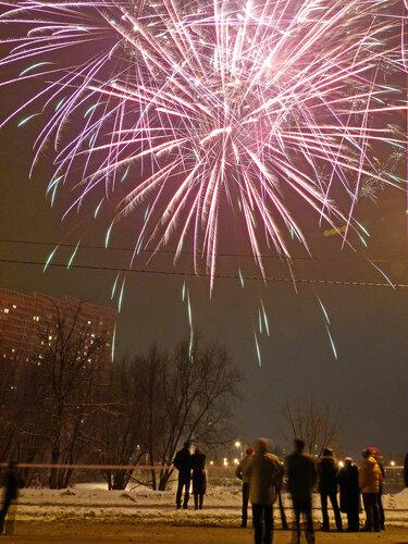 Новогодний салют в Солнцево (фото)