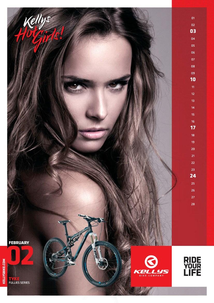 12 сексуальных девушек в эротическом календаре производителя велосипедов Kellys Hot Girls 2013