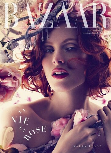 Karen Elson / Карен Элсон на обложке журнала Harper's Bazaar UK, май 2013 / фотограф Alexi Lubomirski