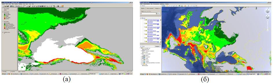 Моделирование пространственного распределения Айланта высокого