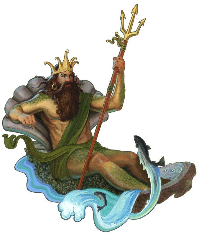 Все прикольные, картинка нептуна морского царя анимация