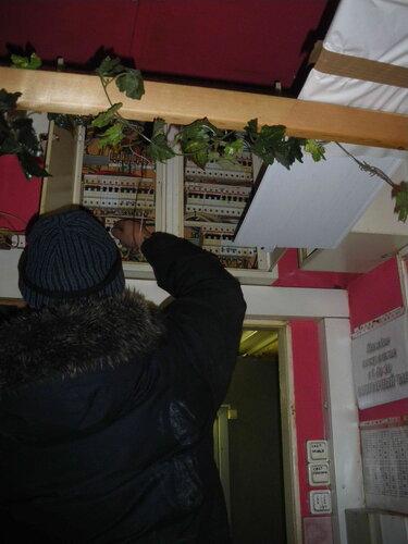 Фото 3. В большом щите кафе сработал однополюсный автоматический выключатель, защищающий розеточную группу, к которой была подключена витрина.