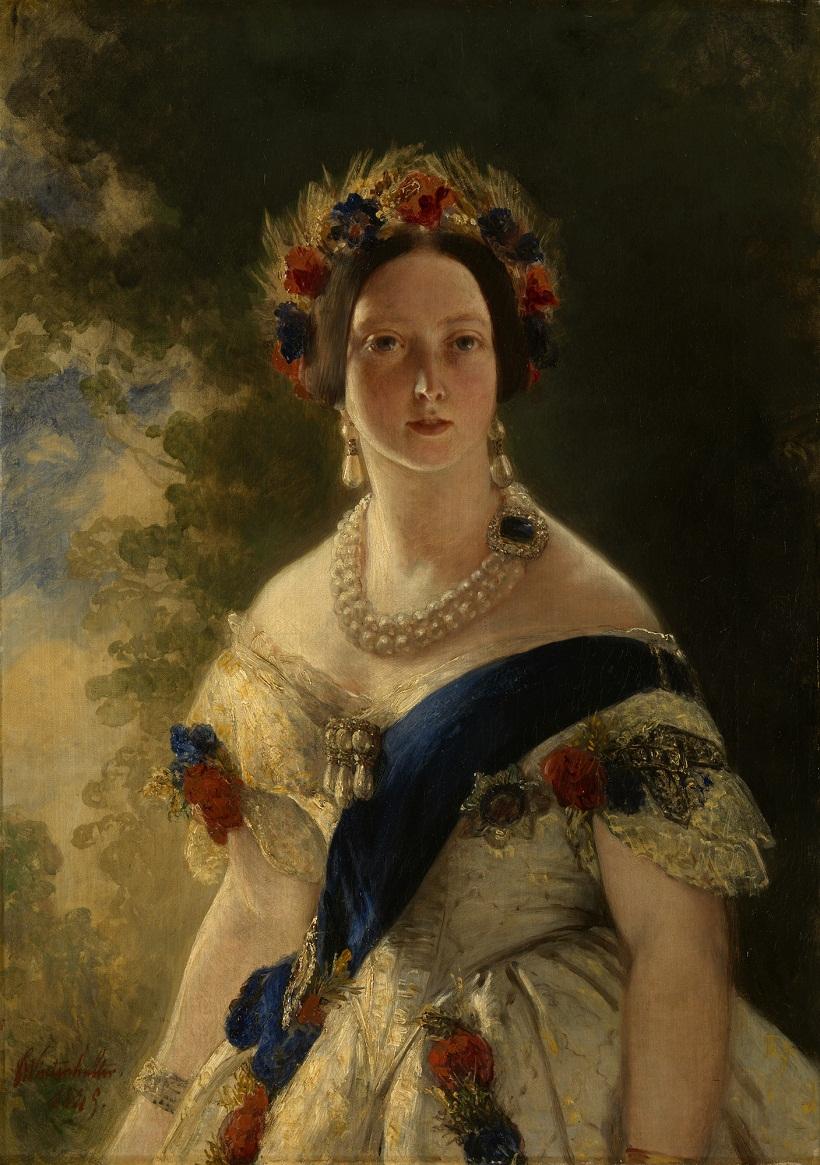 Винтерхальтер (1805-73)Королева Виктория (1819-1901)  Подпись и дата 1 845