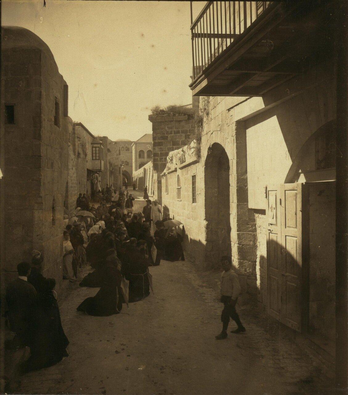 Четвертая остановка на Виа Долороза, место встречи Христа с Матерью по пути на Голгофу, 30 января 1913 г.