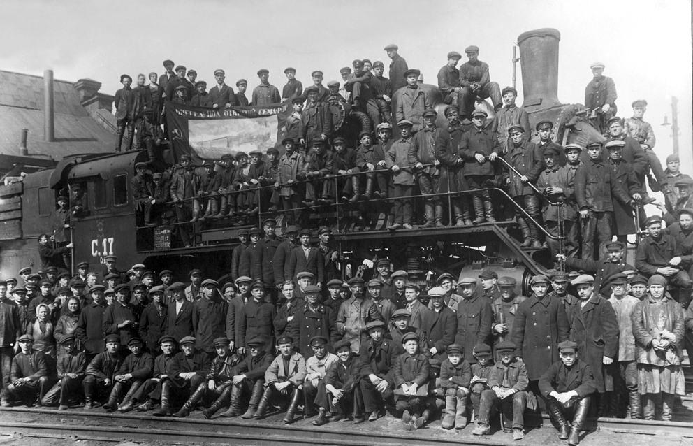 1930-е. Коллектив Вологодского паровозо-ремонтного завода