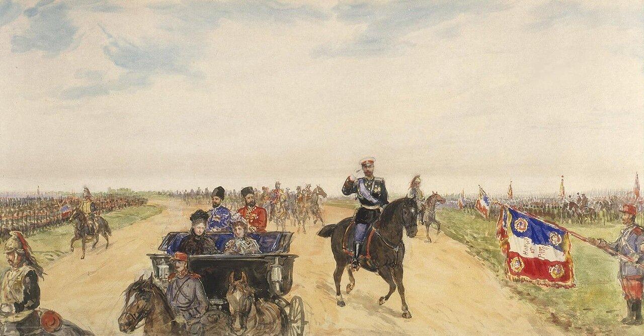 Королевский кортеж на дороге к бастиону Бетень