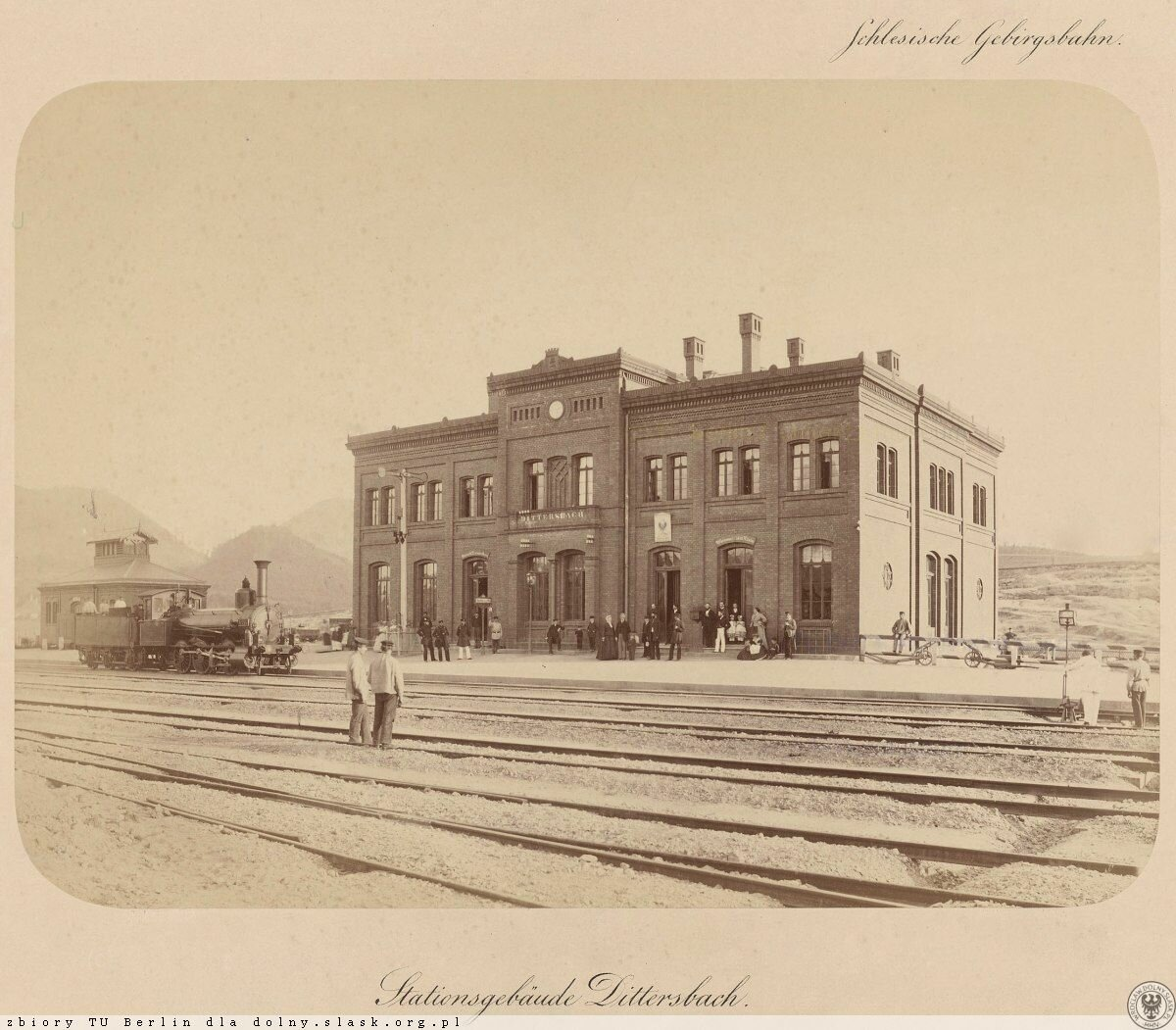 Самая старая известная фотография станции в Валбжихе. 1867