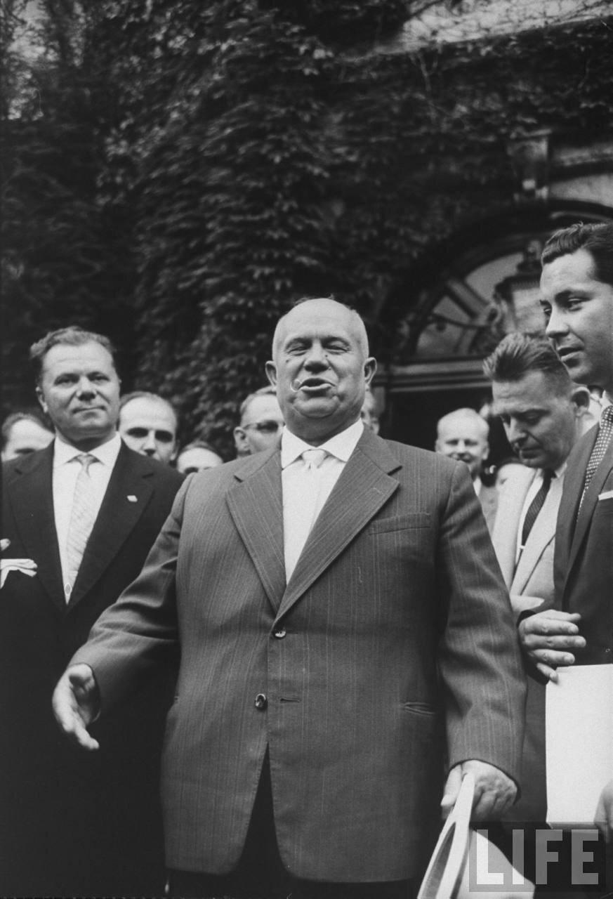 Никита Хрущев во время своего визита