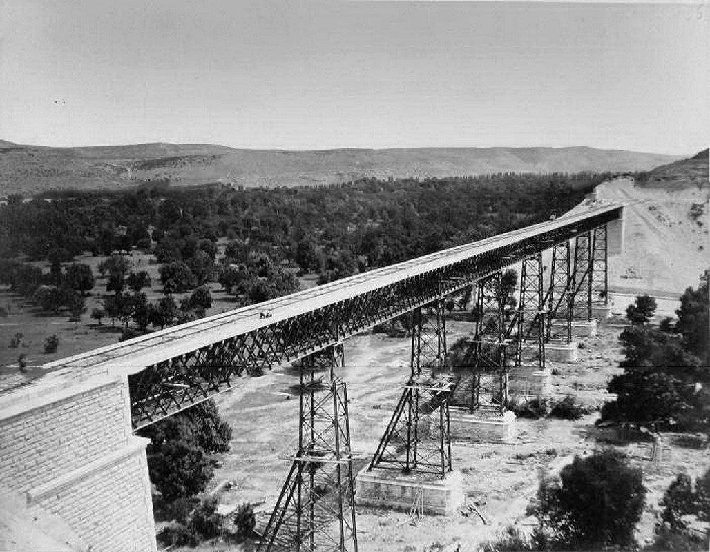 36. Вид Инкерманского моста Лозово-Севастопольской железной дороги