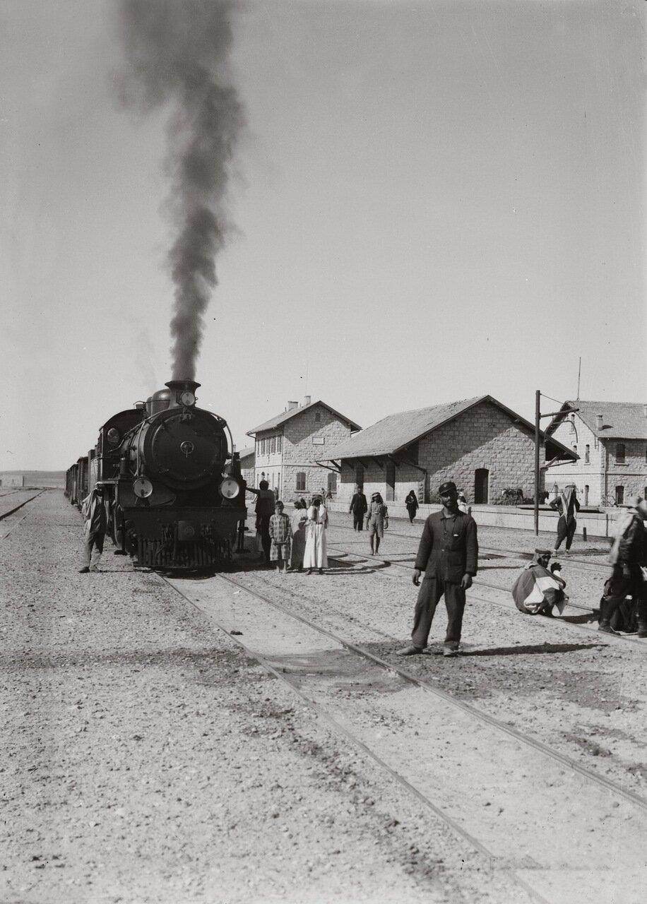 Хиджазская железная дорога, станция Маан, Иордания. 1900-1920 гг.