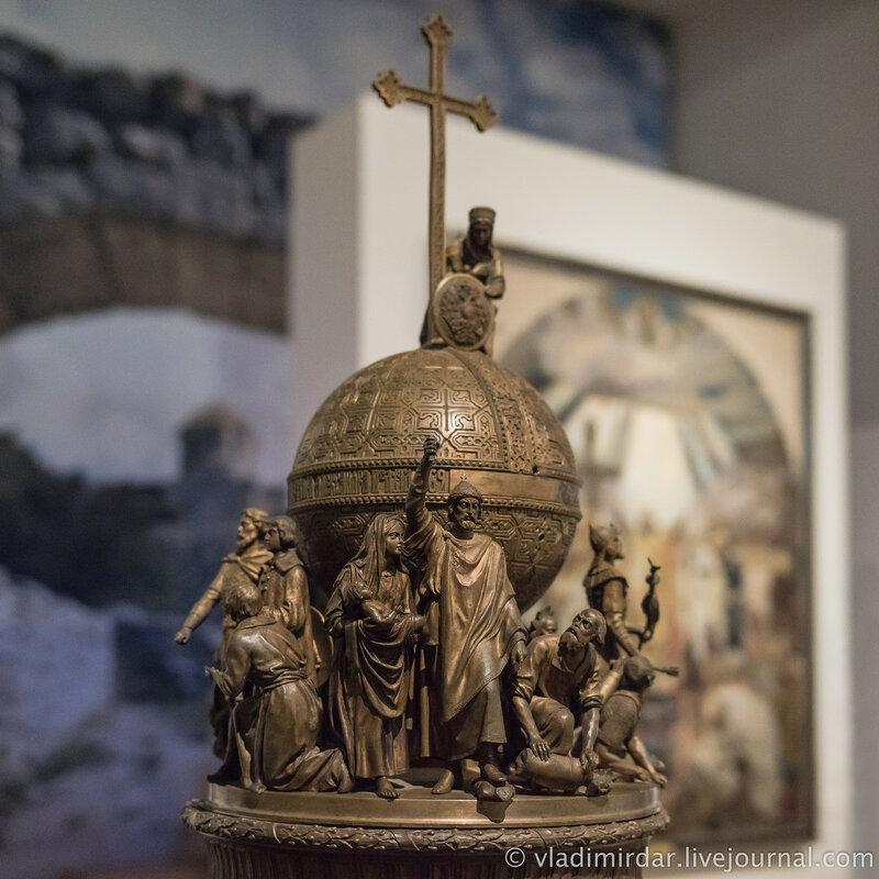 Модель памятника «Тысячелетие России» в Новгороде.