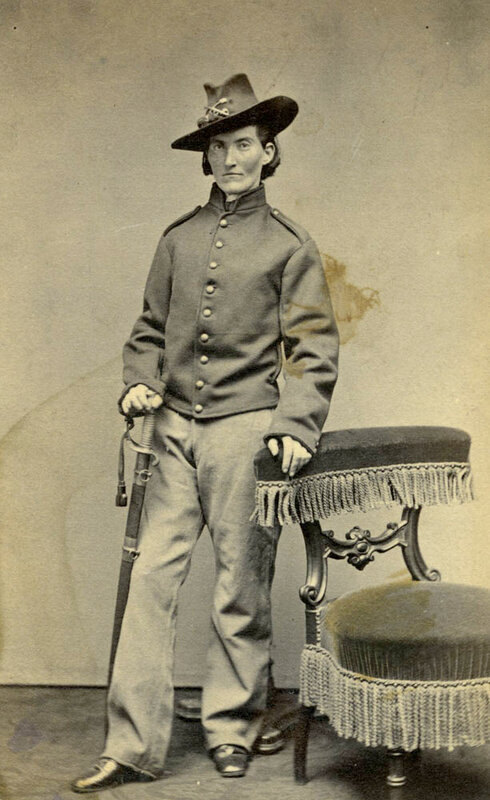 Union soldier Frances Louisa Clayton, who dressed as a man to enlist with her husband in 1861