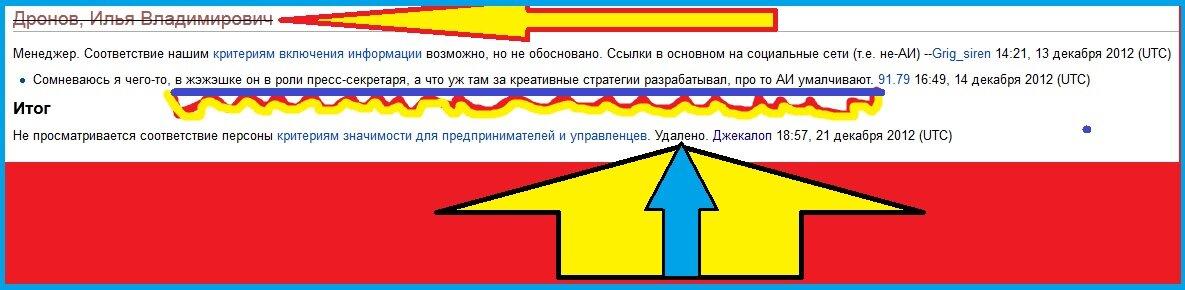 Дронова выкинула Википедия